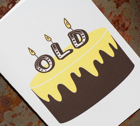 Letterpress Brithday Card