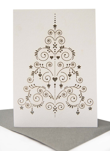 Laser Cut Holiday Cards