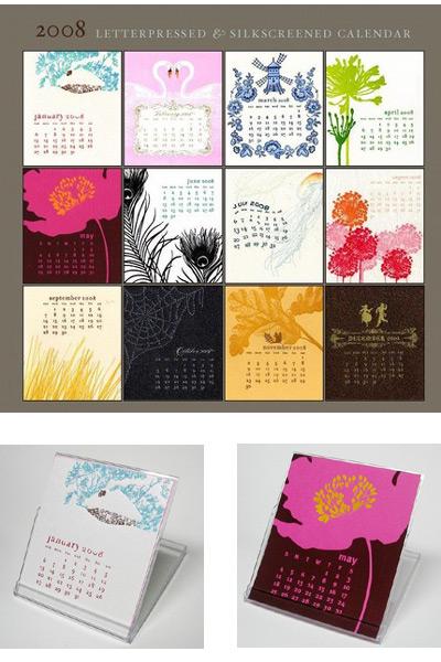Ilee 2008 Letterpress Calendar