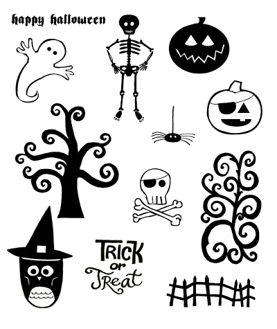 Impress Rubber Stamps Halloween