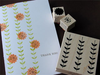 Impress Rubber Stamps Stem Pattern Card