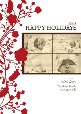 Ink Obsession Holiday Photo Card