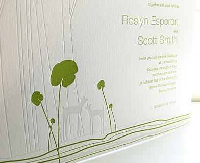 Ink + Wit Letterpress Wedding