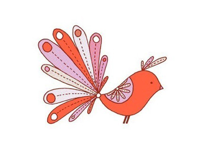 Jen Skelley Exotic Bird Gocco Print