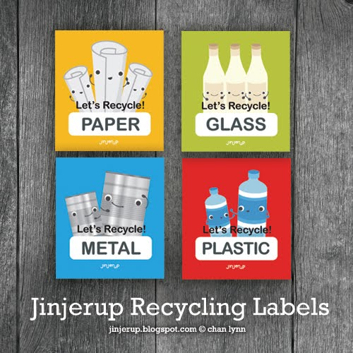 Free Printable Recycling Labels