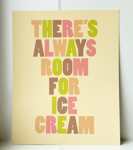 Ice Cream Print Two for Joy