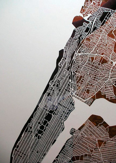 Karen O'Leary Papercut Maps