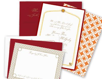Kenzie Kate Casablanca Wedding Invitation
