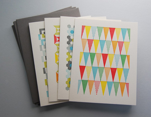 Krank Press Letterpress Quilt Cards