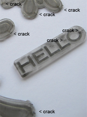 Standard L Plates Cracks