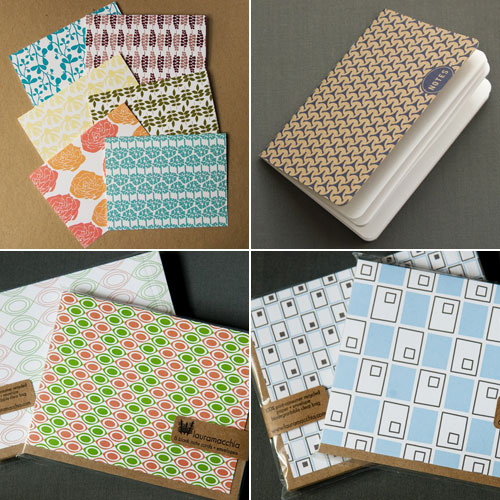 Laura Macchia Patterned Note Cards Notebooks