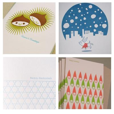 Fugu Fugu Letterpress Christmas Cards