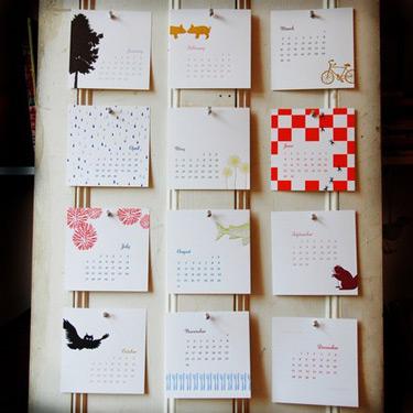 Linda & Harriet 2008 Letterpress Calendar