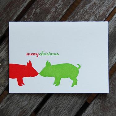 Linda & Harriet Christmas Letterpress