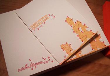 Vertallee Letterpress Happy Holidays Card