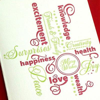 Armato Design Letterpress Christmas Cards