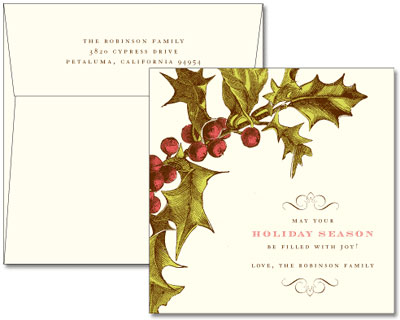 Dauphine Press Customized Holiday Letterpress Cards