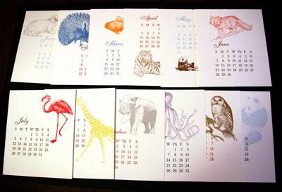 Joie Studio Letterpress Calendar