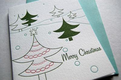 Sarah Marie Letterpress Christmas Cards