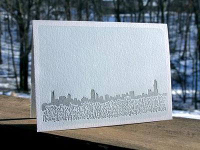 Spring Olive Letterpress Holiday Cards