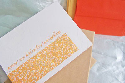 Vertallee Christmas Letterpress Cards