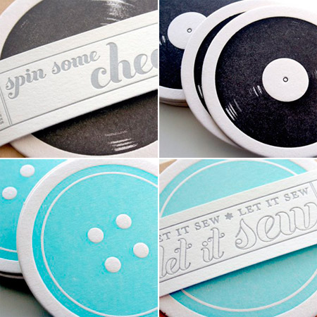 Parrott Design Studio Letterpress Coasters