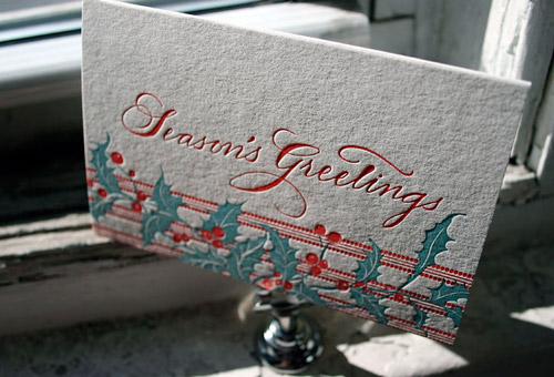 Smock Letterpress Christmas Cards