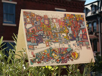 Doodlespark Note Cards by Loop