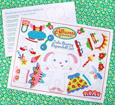 Lula Bunny Paper Doll