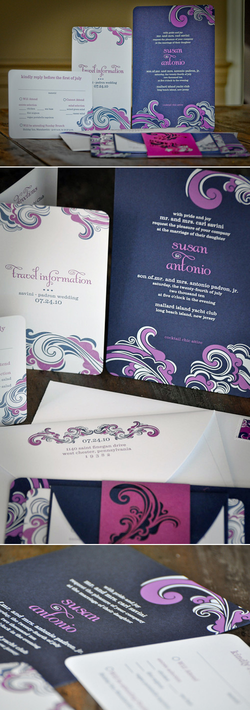 Louella Press Custom Letterpress Wedding Invitations