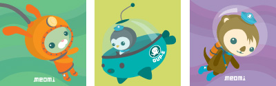 Meomi Octonauts Magnets