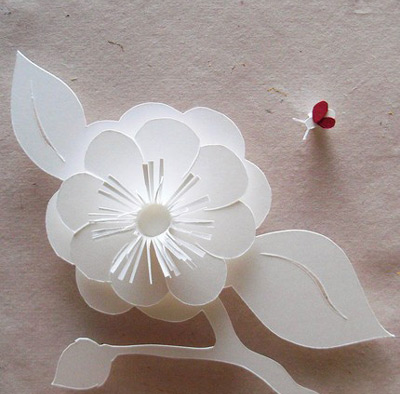 Molly jey paper sculpture paper crave molly jey paper sculpture camelia and ladybug mightylinksfo