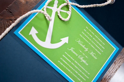 Meant to be Sent Nautical Wedding Invitations