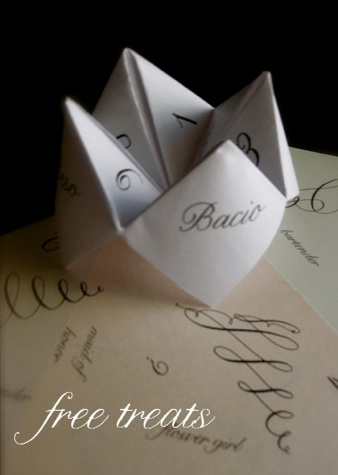 Nelly Script Font Crystal has also created the darling cootie catcher
