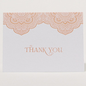 Luxe Expressions Letterpress Thank You