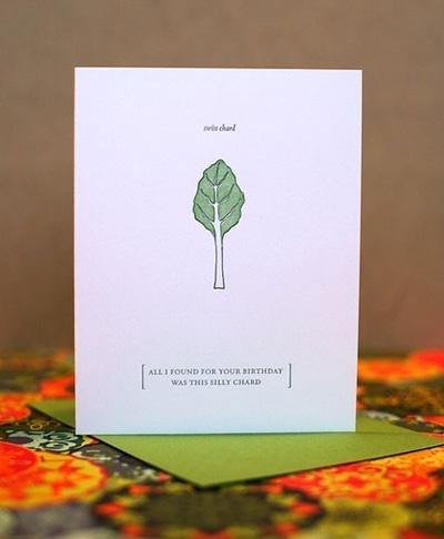 Letterpress Foodie Notes