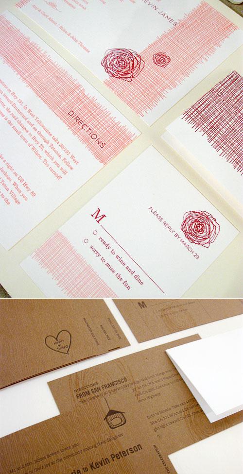 Chewing the Cud Letterpress Wedding Invitations