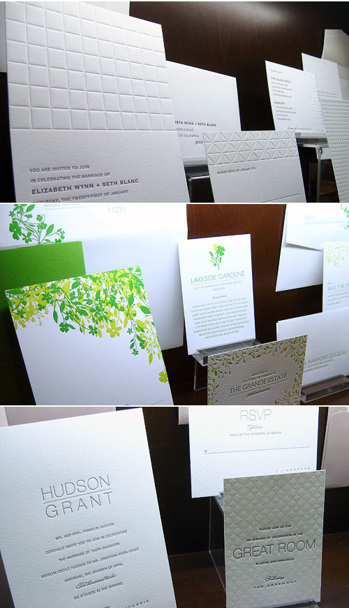 Elum Umi Letterpress Affordable Wedding Invitations