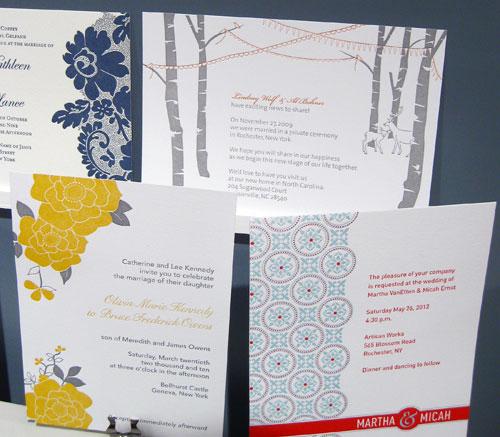Pistachio Press Letterpress Wedding Invitations