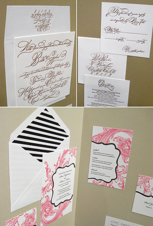 Sweet Letterpress Wedding Invitations