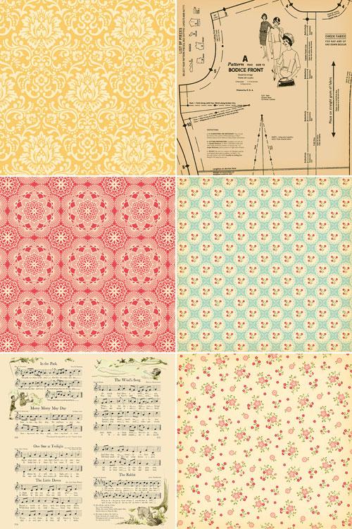 October Afternoon Thrift Shop Patterned Paper