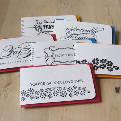 Orange Beautiful Letterpress Gift Tags