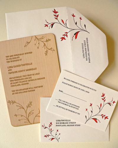 Oslo Press Whimsy Wood and Paper Invitations