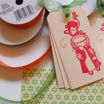 Ouou Little Monkey Gift Tags