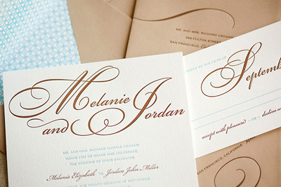 Paper Chez Letterpress Wedding