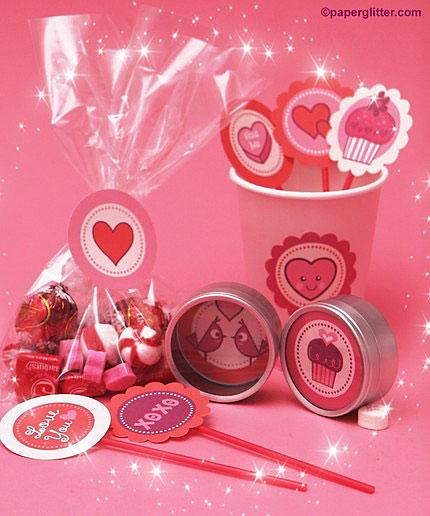 Paper Glitter Valentine Printables