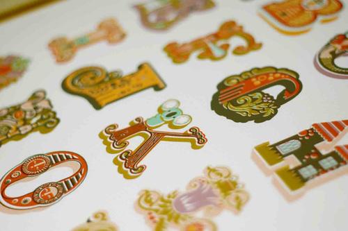 Jeanie Nelson Paper Nut Decorative Alphabet Print