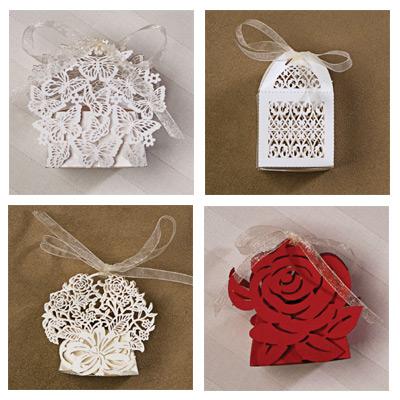 Paper Orchid Favor Boxes