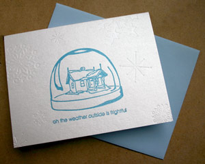 Paper Stories Letterpress Holiday Cards