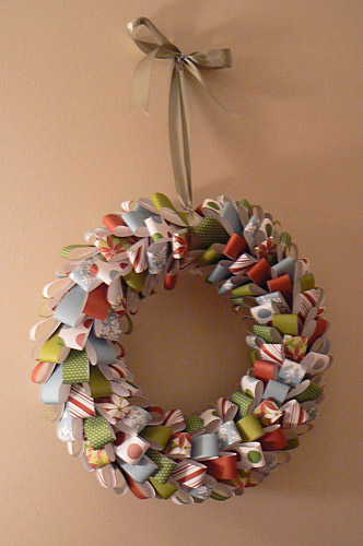 Paper Strips Wreath